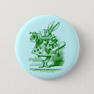 Vintage Alice in Wonderland White Rabbit 2 Inch Round Button