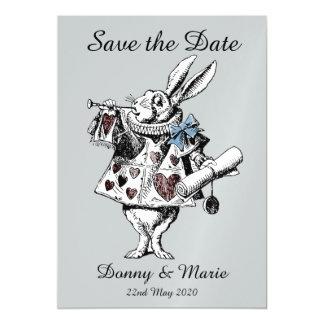 Vintage Alice in Wonderland White Rabbit Date Card