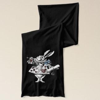 Vintage Alice in Wonderland White Rabbit Scarf