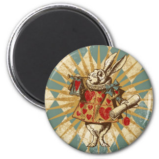 Vintage Alice White Rabbit Magnet