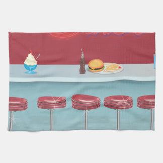 Vintage All American Diner Kitchen Towel
