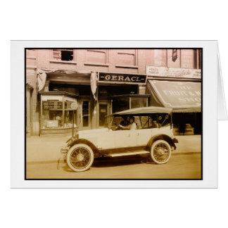 Vintage Allen car art photo Greeting Card