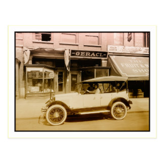Vintage Allen car art photo Postcard