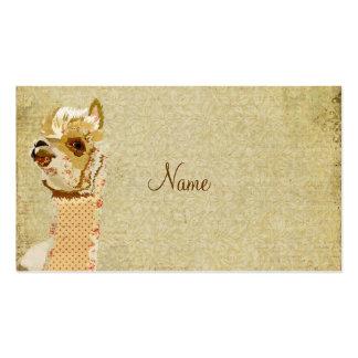 Vintage Alpaca Gold Business Card