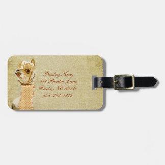 Vintage Alpaca Luggage Tag