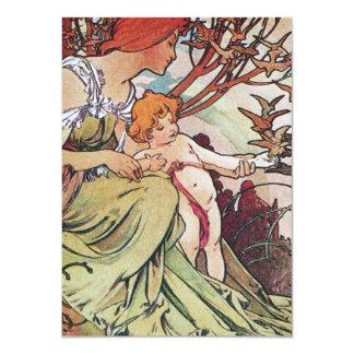 Vintage Alphonse Mucha Card