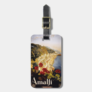 Vintage Amalfi Italy custom luggage tag