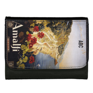 Vintage Amalfi Italy custom monogram wallets