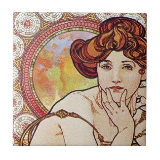 Vintage Amber Art Tile