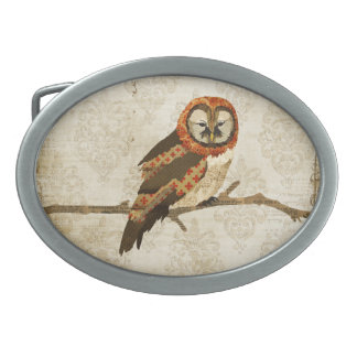 Vintage  Amber Mums Owl  Belt Buckle