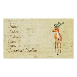 Vintage Amber Stag Business Card