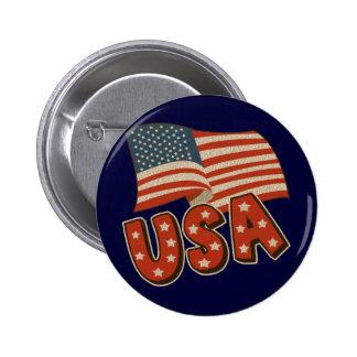 Vintage America Flag 2 Inch Round Button