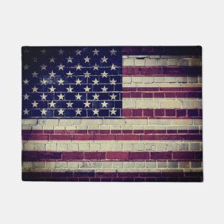 Vintage America flag Doormat