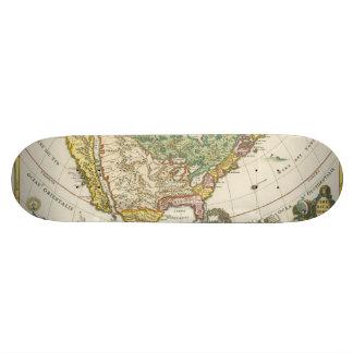 Vintage America Map - Borealis 1699 Custom Skate Board