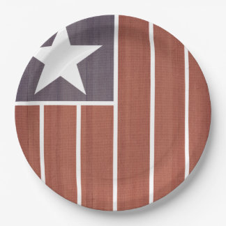Vintage America Veterans Day Party Paper Plates
