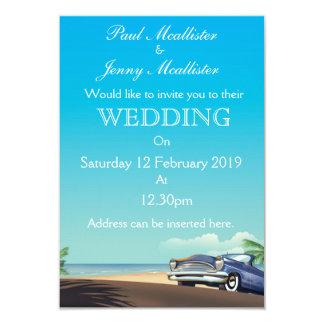 Vintage american Automobile Wedding Invite
