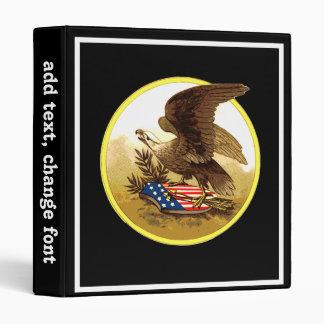 Vintage American Bald Eagle Vinyl Binder
