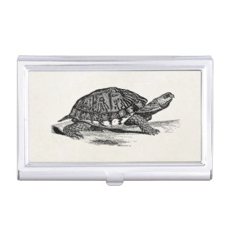 Vintage American Box Tortoise - Turtle Template Business Card Cases