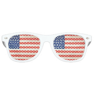 Vintage American Flag- 4th July Party Sunglasses