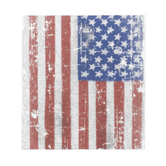 Vintage American Flag Art Notepad