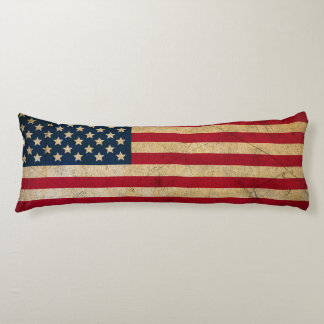 Vintage American Flag Body Pillow