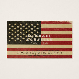Vintage American Flag Business Card