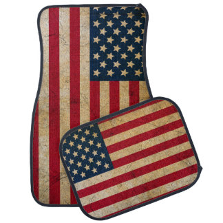 Vintage American Flag Car Floor Mat