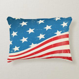 Vintage American Flag Decorative Pillow