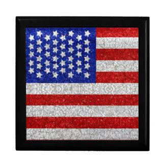 Vintage American Flag giftbox Keepsake Box