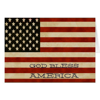 Vintage American Flag GIFTS Card