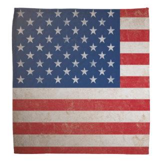 Vintage American Flag Grunge Patriotic Bandana