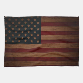Vintage American Flag Hand Towel
