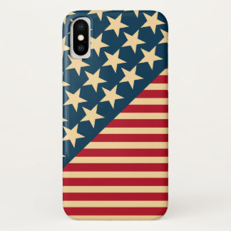 Vintage American Flag iPhone X Case