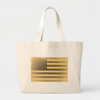 Vintage American Flag Jumbo Tote Bag