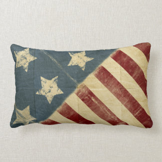 Vintage American Flag Made In America Throw Pillow