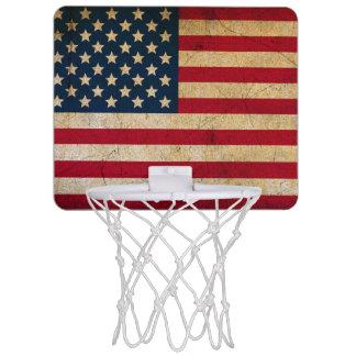 Vintage American Flag Mini Basketball Hoop