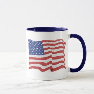 Vintage American Flag Mug