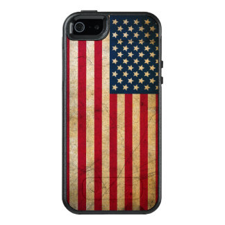 Vintage American Flag OtterBox iPhone 5/5s/SE Case