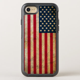 Vintage American Flag OtterBox Symmetry iPhone 7 Case