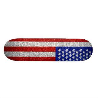 Vintage American Flag Skateboard