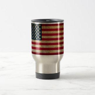 Vintage American Flag Stainless Steel Travel Mug