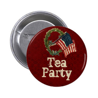 Vintage American Flag Tea Party Buttons