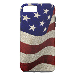 Vintage American Flag with Grunge Texture iPhone 7 Plus Case