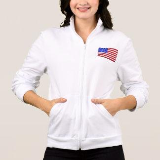 Vintage American Flag Women's Fleece Zip Jogger