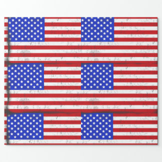 Vintage American Flag Wrapping Paper