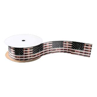 Vintage American Flag Satin Ribbon