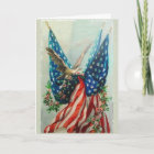 Vintage American Flags Card