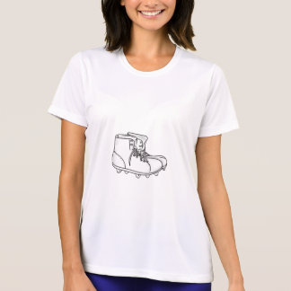 Vintage American Football Boots Drawing T-Shirt
