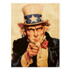 Vintage American Patriotic Uncle Sam Postcard