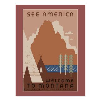 Vintage American Travel Poster Postcard